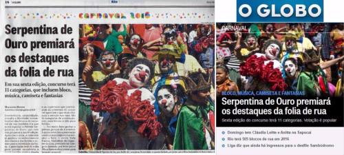 O Globo (impresso e online) - 08/01