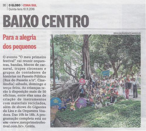 O Globo - Zona Sul - 11/11/16